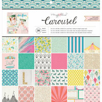 Crate Paper - Carousel Collection - 12 x 12 Paper Pad with Glitter Accents