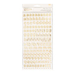 Crate Paper - Carousel Collection - Thickers - Happy - Mint Green Foam - Gold Foil