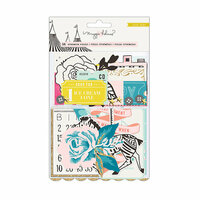 Crate Paper - Carousel Collection - Ephemera with Glitter Accents
