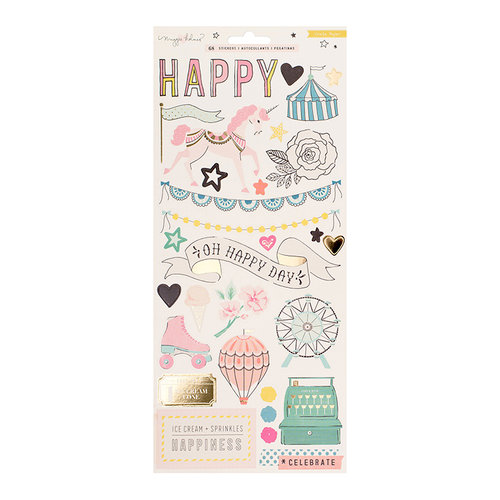 Crate Paper - Carousel Collection - Cardstock Stickers with Foil Accents