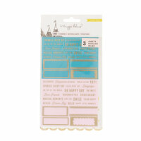 Crate Paper - Carousel Collection - Clear Stickers with Foil Accents