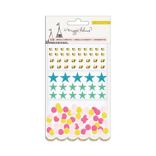 Crate Paper - Carousel Collection - Sequins, Stars, Pom-Poms
