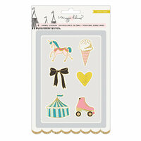Crate Paper - Carousel Collection - Faux Enamel Stickers with Foil Accents
