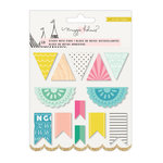 Crate Paper - Carousel Collection - Sticky Note Set - Banner Shapes