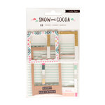 Crate Paper - Snow and Cocoa Collection - Chipboard Frames with Glitter Accents