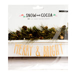 Crate Paper - Snow and Cocoa Collection - Banner with Glitter Accents