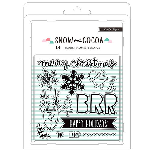 Crate Paper - Snow and Cocoa Collection - Clear Acrylic Stamps
