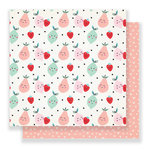 Crate Paper - Main Squeeze Collection - 12 x 12 Double Sided Paper - Cute Pear
