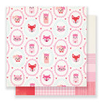 Crate Paper - Main Squeeze Collection - 12 x 12 Double Sided Paper - Cutie