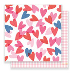 Crate Paper - Main Squeeze Collection - 12 x 12 Double Sided Paper - Heart Eyes