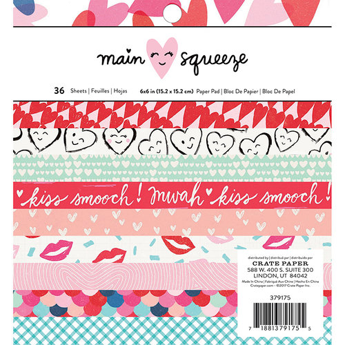 Crate Paper - Main Squeeze Collection - 6 x 6 Paper Pad with Foil Accents