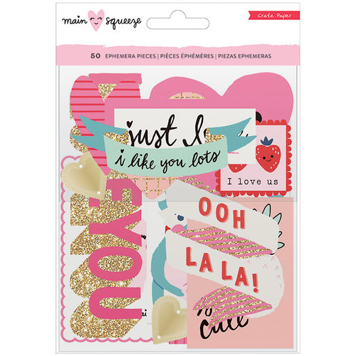 Crate Paper - Main Squeeze Collection - Ephemera with Glitter Accents