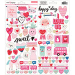 Crate Paper - Main Squeeze Collection - Cardstock Stickers with Foil Accents