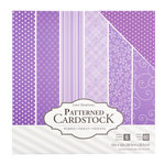 Core'dinations - 12 x 12 Patterned Cardstock - Purple - 60 Sheets