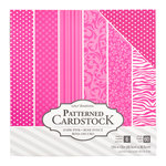 Core'dinations - 12 x 12 Patterned Cardstock - Dark Pink - 60 Sheets