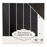 Core'dinations - 12 x 12 Patterned Cardstock - Black - 60 Sheets