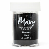 American Crafts - Moxy Embossing Powder - Opaque - Black - .6 Ounce