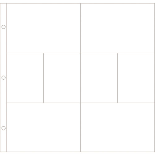 Becky Higgins - Project Life - Photo Pocket Pages - 12 x 12 Design A - 12 Pack