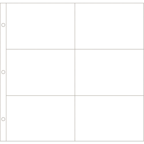 Becky Higgins - Project Life - Photo Pocket Pages - 12 x 12 Design C - 12 Pack