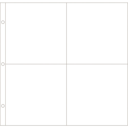 Becky Higgins - Project Life - Photo Pocket Pages - 12 x 12 Design E - 12 Pack