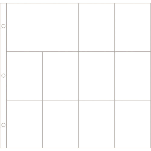 Becky Higgins - Project Life - Photo Pocket Pages - 12 x 12 Design F - 12 Pack