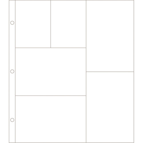 Becky Higgins - Project Life - Photo Pocket Pages - 12 x 10 Design G - 12 Pack