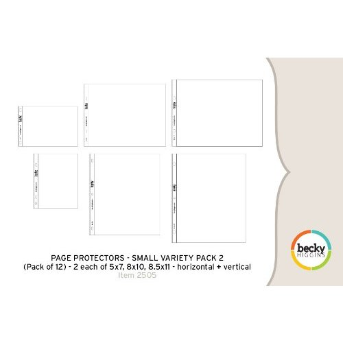 Becky Higgins - Project Life - Photo Pocket Pages - 12 x 12 Small Variety Pack 2 - 12 pack