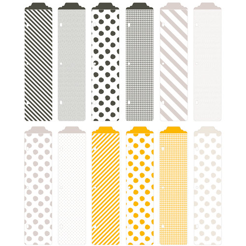Becky Higgins - Project Life - Midnight Collection - Designer Dividers - 12 Pack