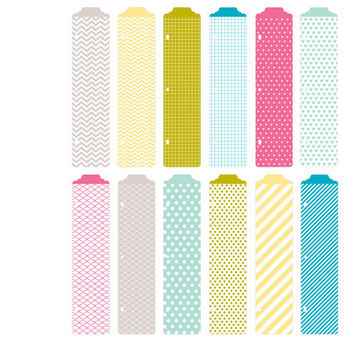 Becky Higgins - Project Life - Blush Collection - Designer Dividers - 12 Pack