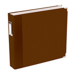 Becky Higgins - Project Life - Jade Collection - Album - 12 x 12 D-Ring - Brown