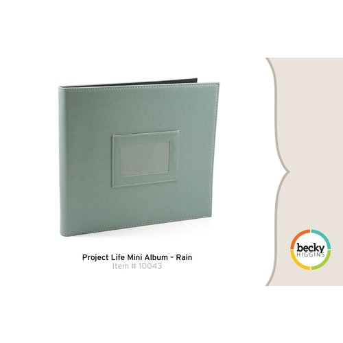 Becky Higgins - Project Life - Faux Leather Mini Album - Rain
