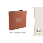 American Crafts - Becky Higgins - Project Life - Faux Leather Mini Album - Cinnamon, COMING SOON