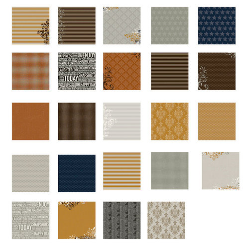 American Crafts - Becky Higgins - Project Life - Cinnamon Collection - 12 x 12 Designer Paper Collection Pack