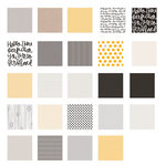 Becky Higgins - Project Life - Midnight Collection - 12 x 12 Designer Paper Collection Pack