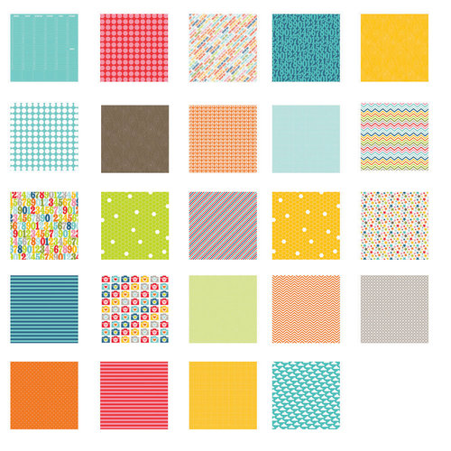 American Crafts - Becky Higgins - Project Life - Honey Collection - 12 x 12 Designer Paper Collection Pack