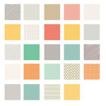 American Crafts - Becky Higgins - Project Life - Jade Collection - 12 x 12 Designer Paper Collection Pack