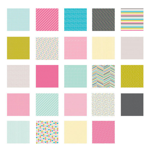Becky Higgins - Project Life - Blush Collection - 12 x 12 Designer Paper Collection Pack