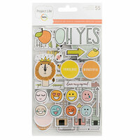 Becky Higgins - Project Life - Rad Edition Collection - Chipboard Stickers