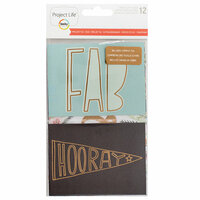 Becky Higgins - Project Life - Rad Edition Collection - Specialty Card Pack with Foil Accents