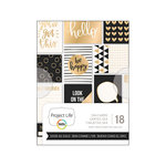 Becky Higgins - Project Life - Good As Gold Collection - 3 x 4 Card Pad with Foil Accents