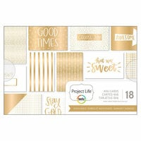 Becky Higgins - Project Life - Gold and Bold Collection - 4 x 6 Card Pad with Foil Accents