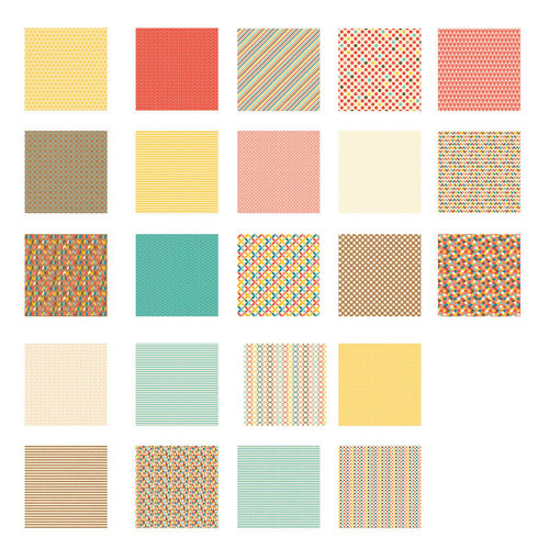 Becky Higgins - Project Life - Kraft Collection - 12 x 12 Designer Paper Collection Pack