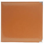 American Crafts - Becky Higgins - Project Life - Faux Leather Album - 12 x 12 D-Ring - Cinnamon, COMING SOON