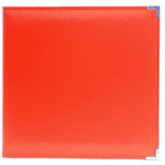 Becky Higgins - Project Life - Faux Leather Album - 12 x 12 - D-Ring - Cherry