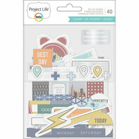 Becky Higgins - Project Life - Sharp Edition Collection - Ephemera with Foil Accents
