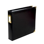 Becky Higgins - Project Life - Faux Leather Album - 12 x 12 D-Ring - Midnight