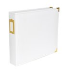 Becky Higgins - Project Life - Faux Leather Album - 12 x 12 D-Ring - White