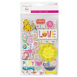 Becky Higgins - Project Life - Playful Collection - Chipboard Stickers