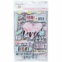 Becky Higgins - Project Life - Inspire Edition Collection - Chipboard Stickers
