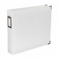 Becky Higgins - Project Life - Faux Leather - 12 x 12 D-Ring Album - White